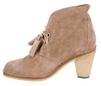 Marc Jacobs Suede Lace-Up Ankle Boots