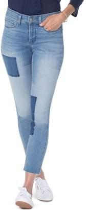 NYDJ Alina High Waist Shadow Detail Ankle Jeans