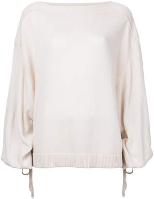 Jil Sander balloon sleeves knitted blouse