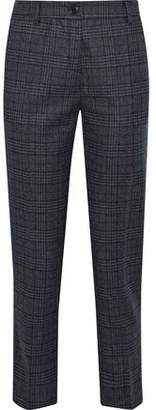 Iris & Ink Cindy Pinstriped Herringbone Cotton-blend Slim-leg Pants