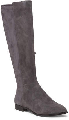 Wide Calf Suede High Shaft Boots