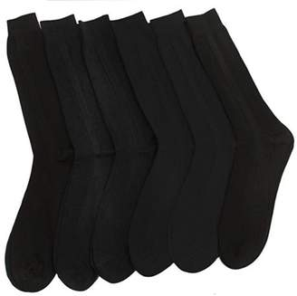 Fashionable Homax New Men's Solid-Color Trouser Socks For Everday Use (12-Pack) - Black