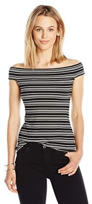 Paris Sunday Women's Off Shoulder Ribbed Top