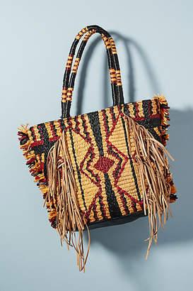Antik Batik Hedia Straw Tote Bag