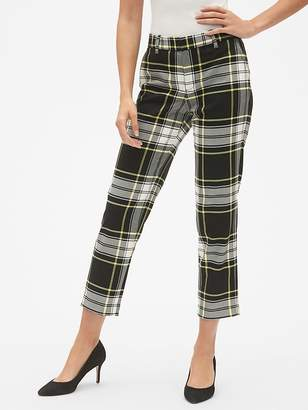 Gap Slim City Plaid Crop Pants