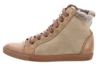 Brunello Cucinelli Brogue Shearling Sneakers