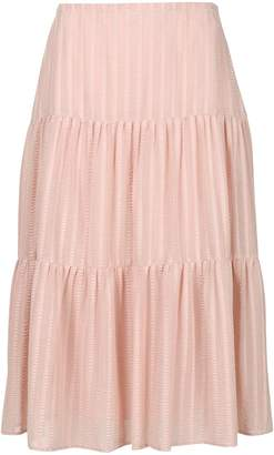 See by Chloe flared midi skirt