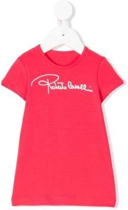 Roberto Cavalli Junior logo printed T-shirt dress