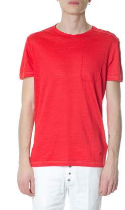 Dondup Red Cotton T-shirt With Logo
