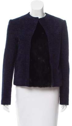 The Row Patterned Fur-Trimmed Jacket