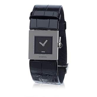 Chanel Vintage Leather Mademoiselle Watch
