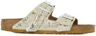 Rick Owens crinkle effect metallic-tone sandals