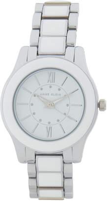 Anne Klein AK2705 Silver-Tone & White Watch