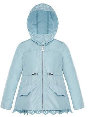 Moncler Lotus Wind-Resistant Jacket w/ Eyelet Hem, Size 4-6