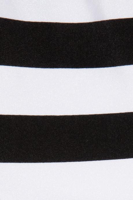 Norma Kamali William striped swimsuit