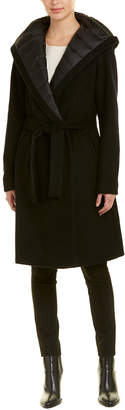 Dawn Levy Paige Wool-Blend Wrap Coat