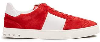 Valentino Fly Crew Low Top Suede Trainers - Mens - Red Multi