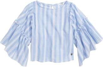 Bebe Yarn Dyed Stripe Blouse