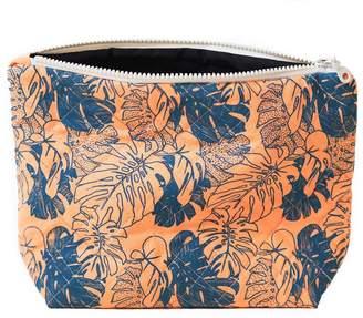 Lucy Engels Large Makeup Bag Tropical Orange