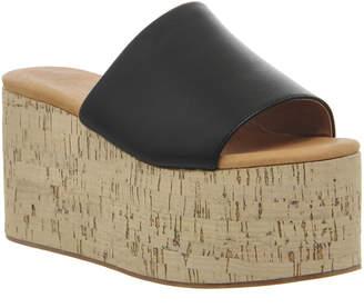 Jeffrey Campbell Getaway Flatform Black Mono Leather