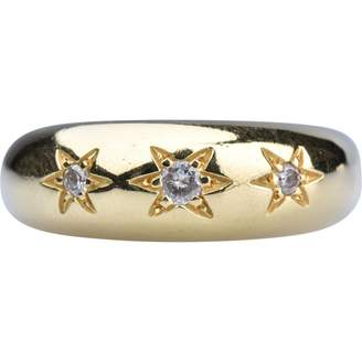 Non Signé / Unsigned Non Signe / Unsigned Motifs Etoiles White Yellow gold Rings