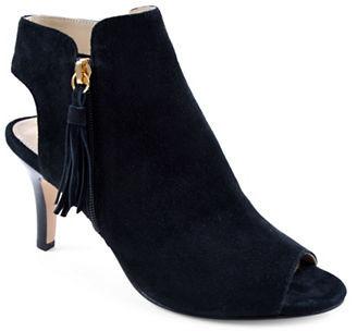 Adrienne Vittadini Glyna Open-Toe Dress Shooties $139 thestylecure.com