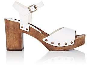FiveSeventyFive Women's Leather Platform Sandals - White