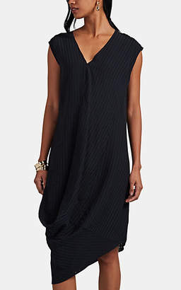 Zero Maria Cornejo Women's Gathered-Side Shift Dress - Black