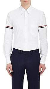 Thom Browne Men's Appliquéd Cotton Button-Down Shirt - White