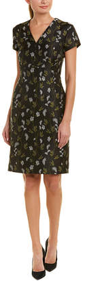 Escada Sheath Silk-Blend Dress