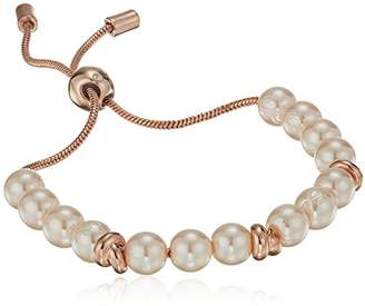 Kenneth Cole New York Womens Rose Gold Pearl and Knot Bracelet