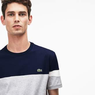 Lacoste Men's Crew Neck Colorblock Soft Jersey T-shirt