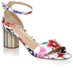 Salvatore Ferragamo Eraclea Floral Block Heel Sandals