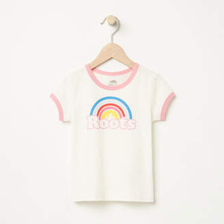 Roots Toddler Cooper Rainbow Ringer T-shirt
