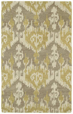 Ebern Designs Dodge Hand-Tufted Taupe/Oatmeal/Brownish Yellow Area Rug
