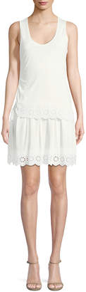 Derek Lam 10 Crosby Sleeveless Scoop-Neck Cotton Dress