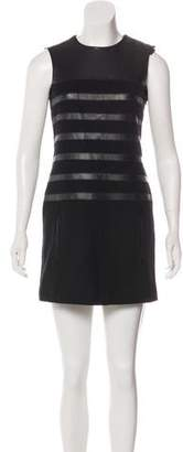 Jean Paul Gaultier Wool Leather-Trimmed Tunic
