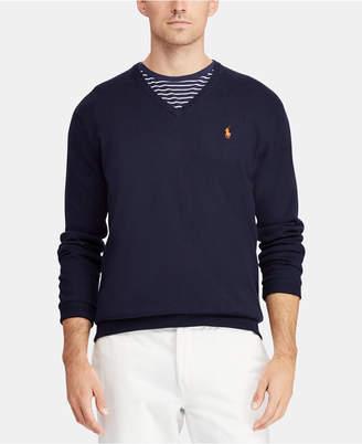 Polo Ralph Lauren Men Cotton V-Neck Sweater