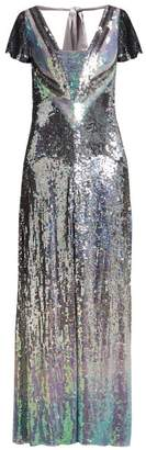 Temperley London Ruth Ombre Sequinned Gown - Womens - Silver Multi