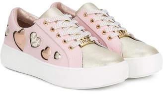 Michael Kors Kids heart embellished sneakers