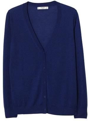 MANGO Chunky-knit wool-blend cardigan