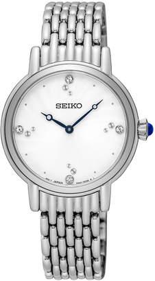 Seiko Women's Crystal Stainless Steel Bracelet Watch 29.4mm