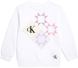 Calvin Klein Geometric Patch Print Sweatshirt