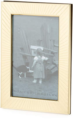 "Monica Rich Kosann Sunburst Brass Picture Frame - 4"" x 6"""