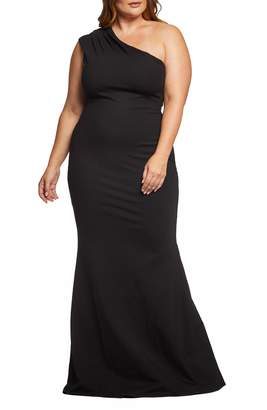 Dress the Population Eva One-Shoulder Gown