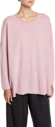 eskandar Mini Striped Ribbed Cashmere Midi Sweater