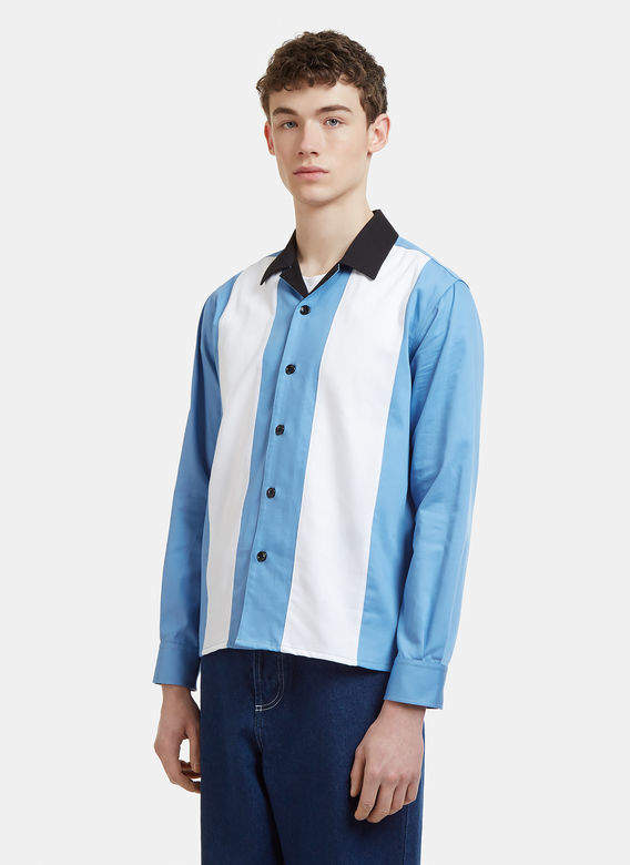 Panel Shirt in Blue