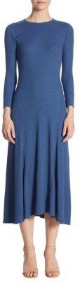 Polo Ralph Lauren Long-Sleeve Midi Dress $145 thestylecure.com