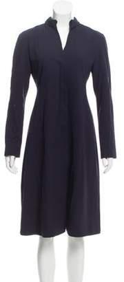 Burberry Wool Pleated Dress blue Wool Pleated Dress