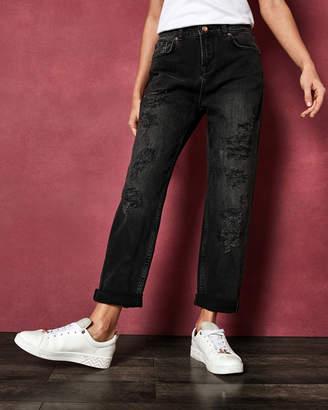 84cc49c366b79 at Ted Baker · Ted Baker HETTEY Abrasion studded boyfriend jeans